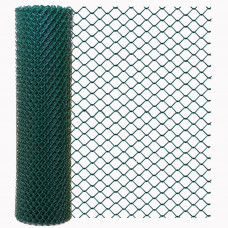 Сетка Рабица с ПВХ 1,2х10м Ø1.65/2.5 25х25мм  оцинкованная